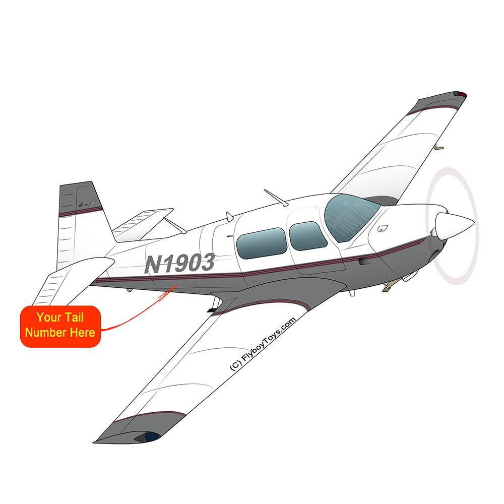 Airplane Design (Silver/Red) - AIRDFFM20J-SR1