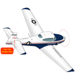 Airplane Design (Blue) - AIRE1MNA145-B1