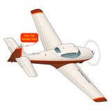 Airplane Design (Brown) - AIRE1MNA145-BRN1