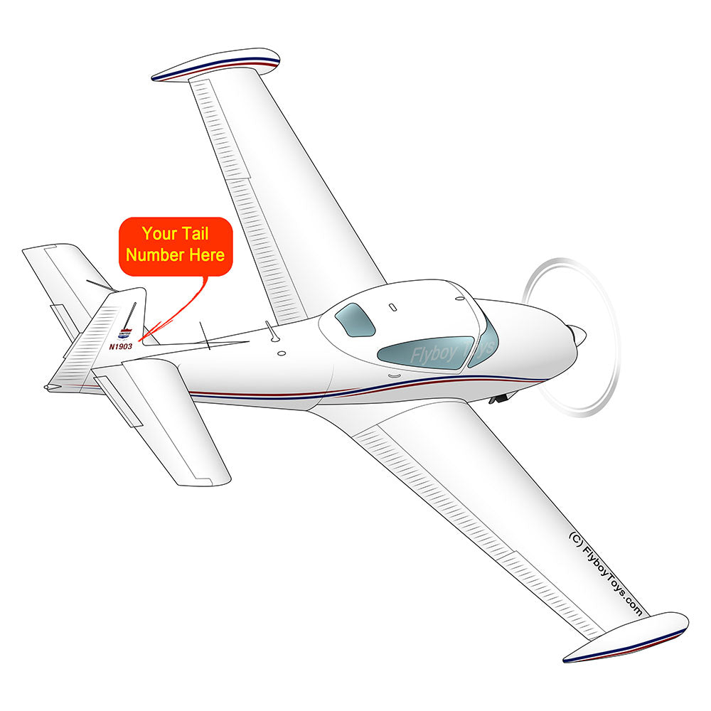 Airplane Design (Red/Blue) - AIRE1MNA145-RB1