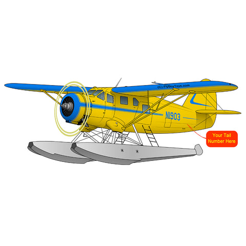 Airplane Design (Yellow/Blue) - AIREFFEFIFL-YB1