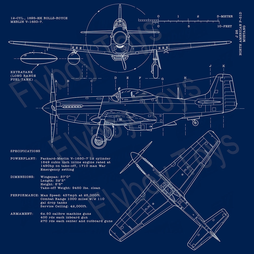 Airplane Blueprint Design - AIREFIP51-BP