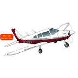 Airplane Design (Silver/Red) - AIRG9G1I3II-SR1