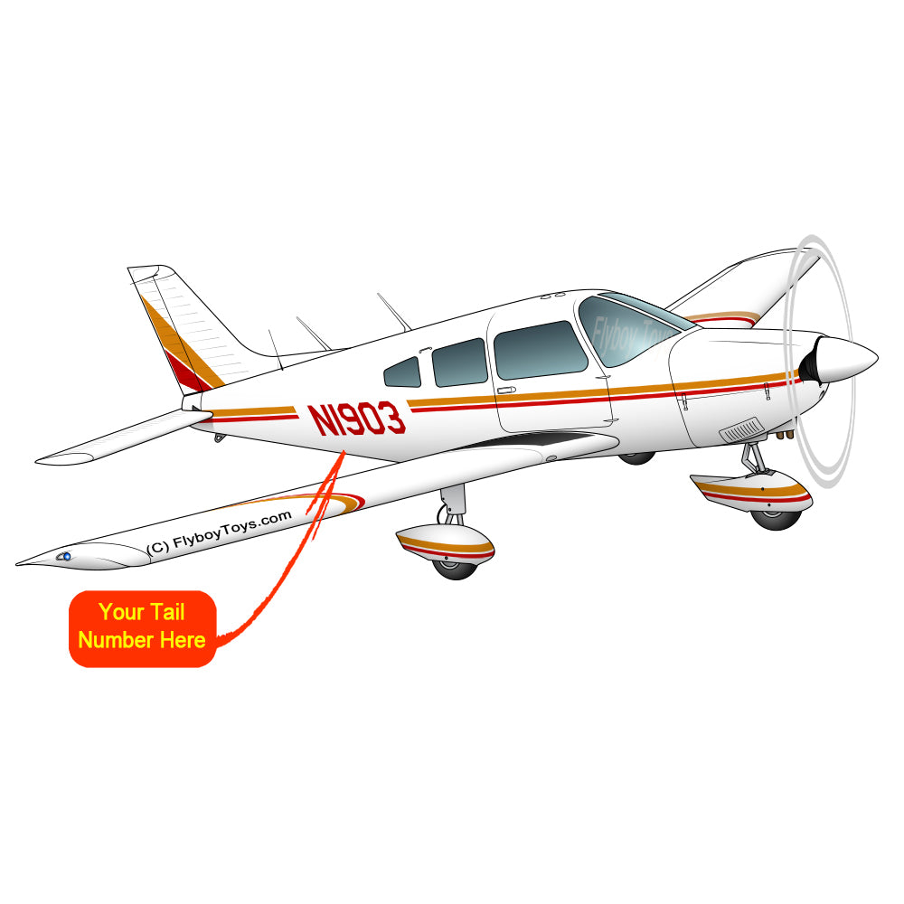 Airplane Design (Orange/Red) - AIRG9G1I3II-OR1