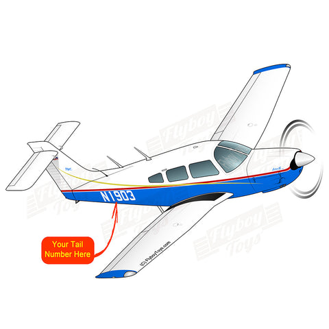 Airplane Design (Blue/Red/Gold) - AIRG9G1I3IV-BRG1