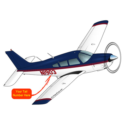 Airplane Design (Blue/Red) - AIRG9G1II-BR1