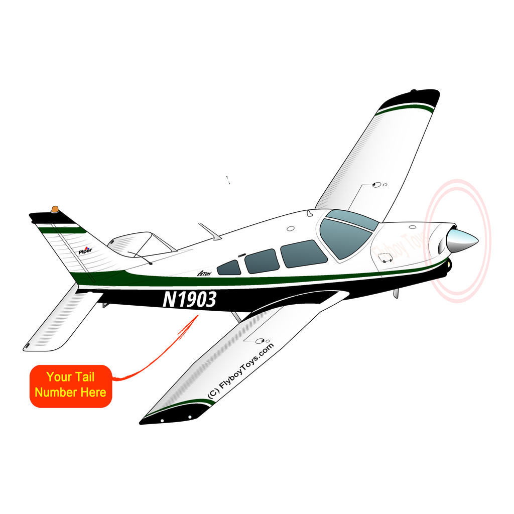 Airplane Design (Black/Green) - AIRG9G1II-GB1