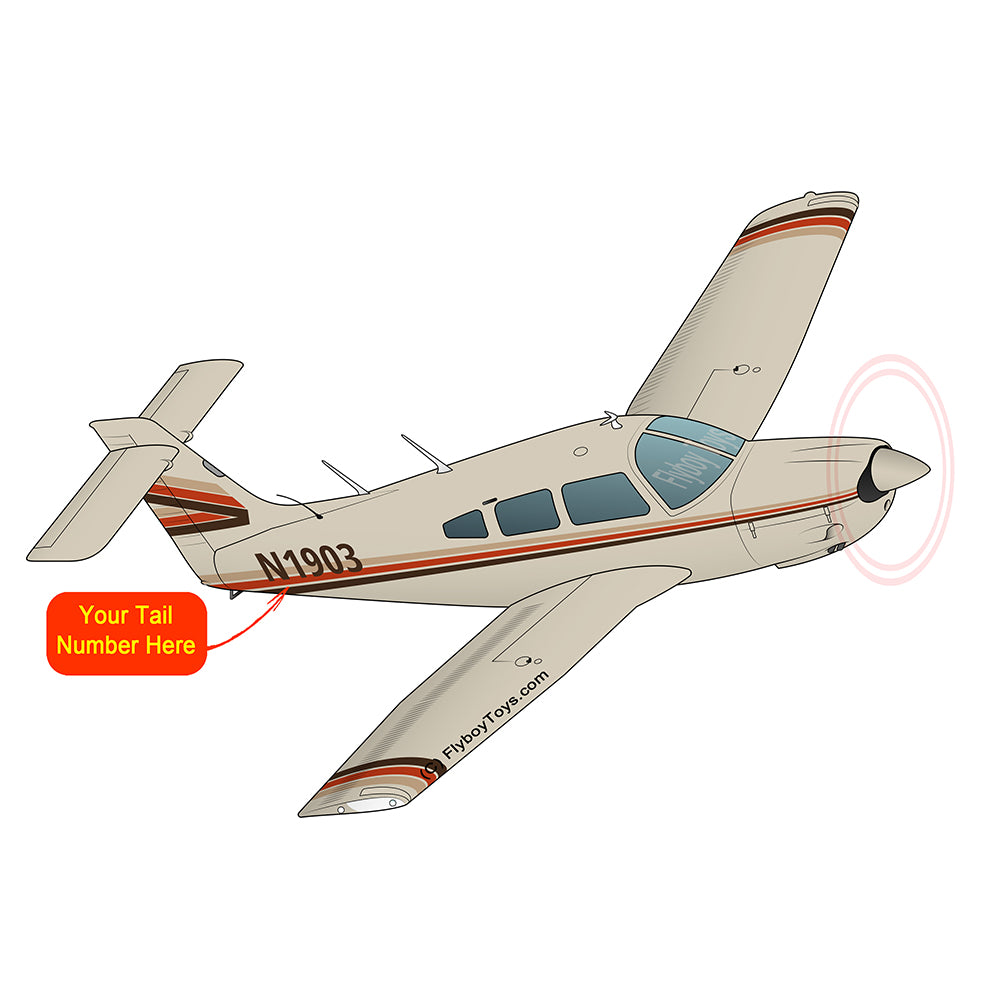 Airplane Design (Tan/Orange) - AIRG9G1IIT-TO1