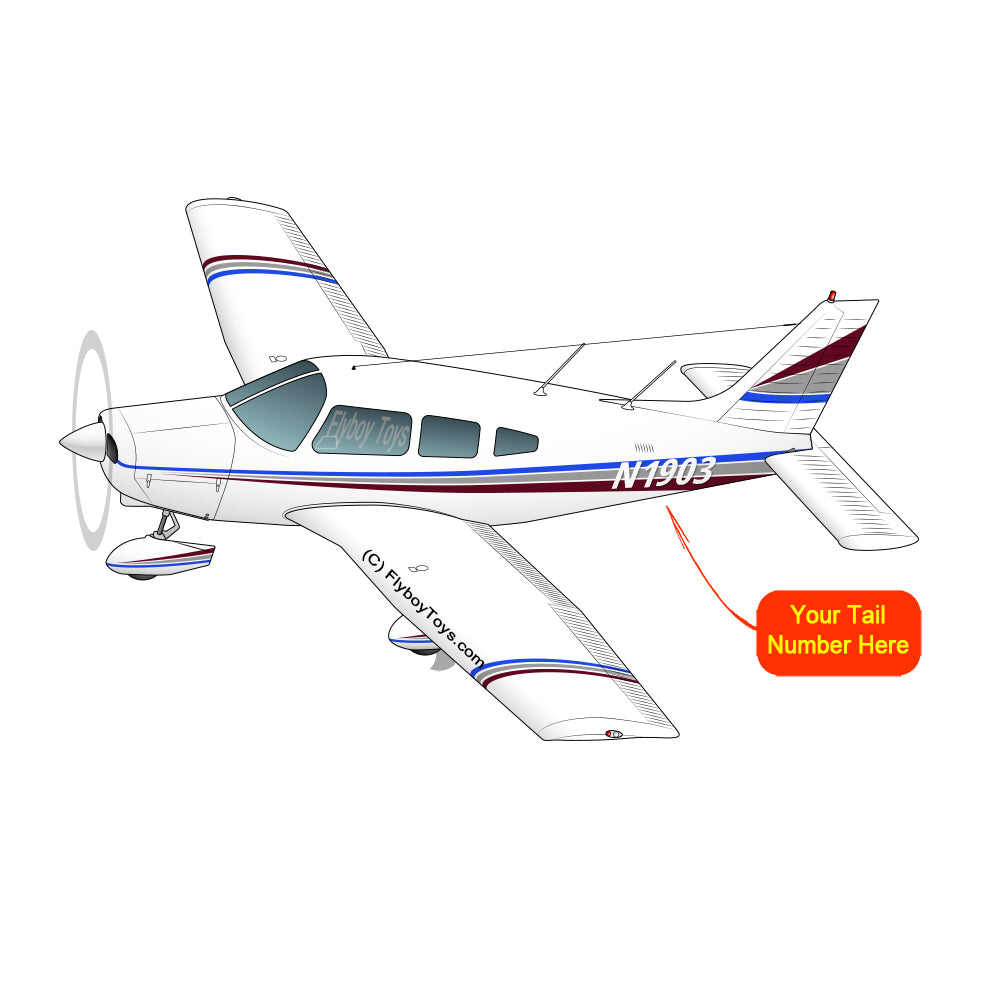 Airplane Design (Blue/Silver/Red) - AIRG9G385180-BSR1