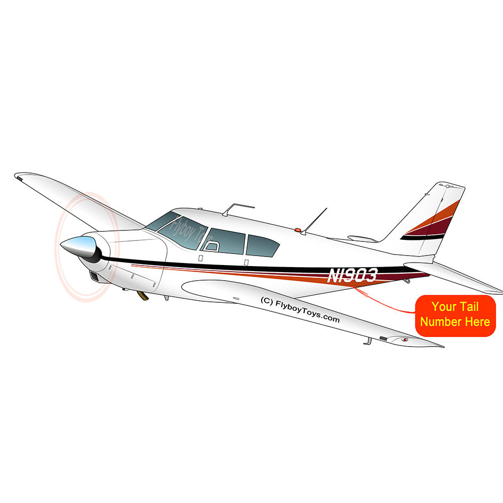 Airplane Design (Black/Red/Orange) - AIRG9G3FD250-BRO1