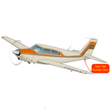Airplane Design (Orange/Tan) - AIRG9G3FD250-OT1