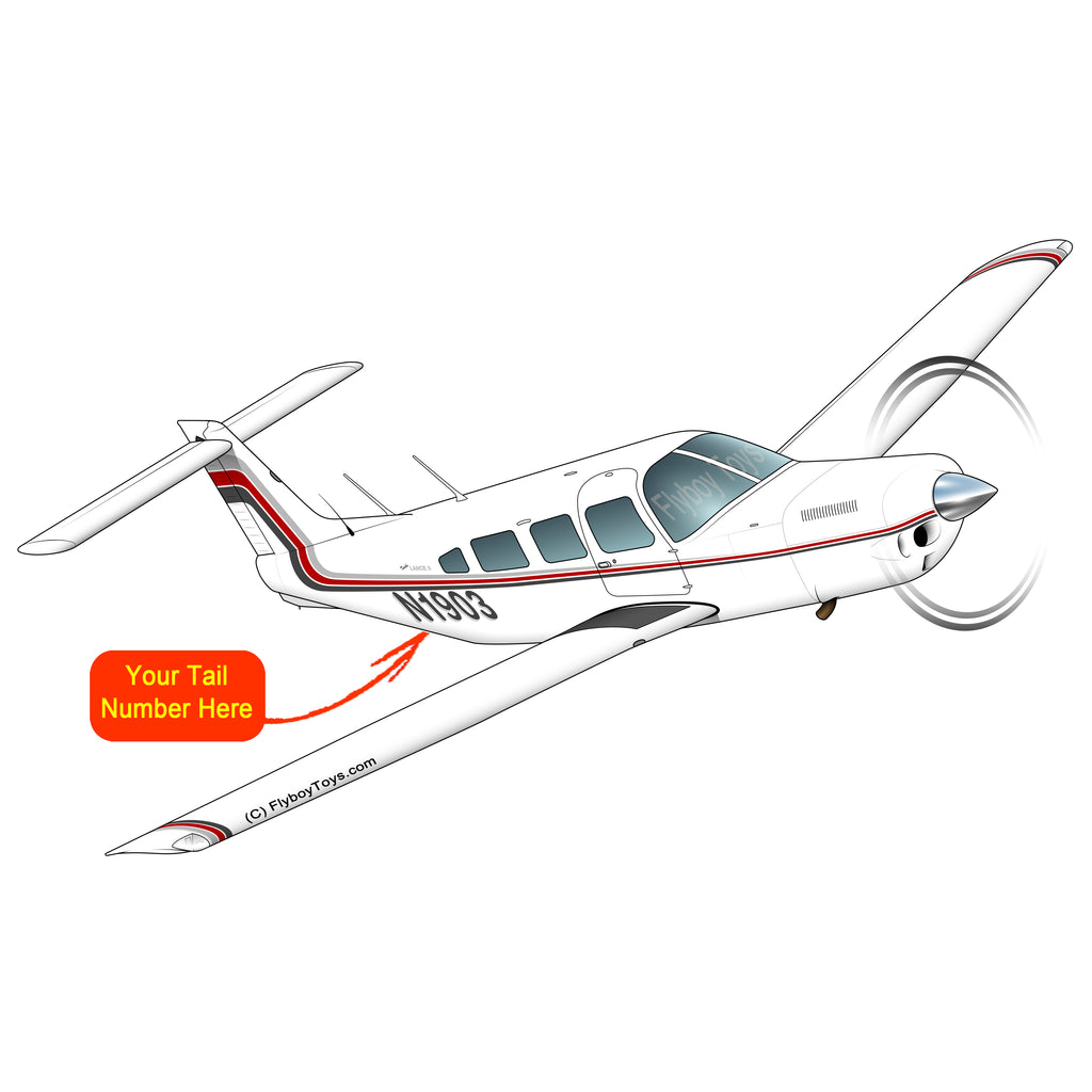 Airplane Design (Grey/Red) - AIRG9GC1EII-GR1