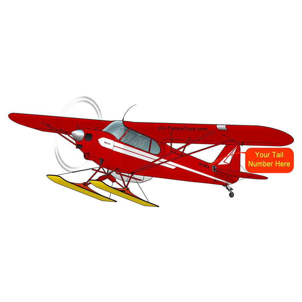 Airplane Design (Red#3) with Skis - AIRG9GG1H-SKIS-R3