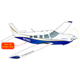 Airplane Design (Blue/Gold) - AIRG9GJ1I-B1