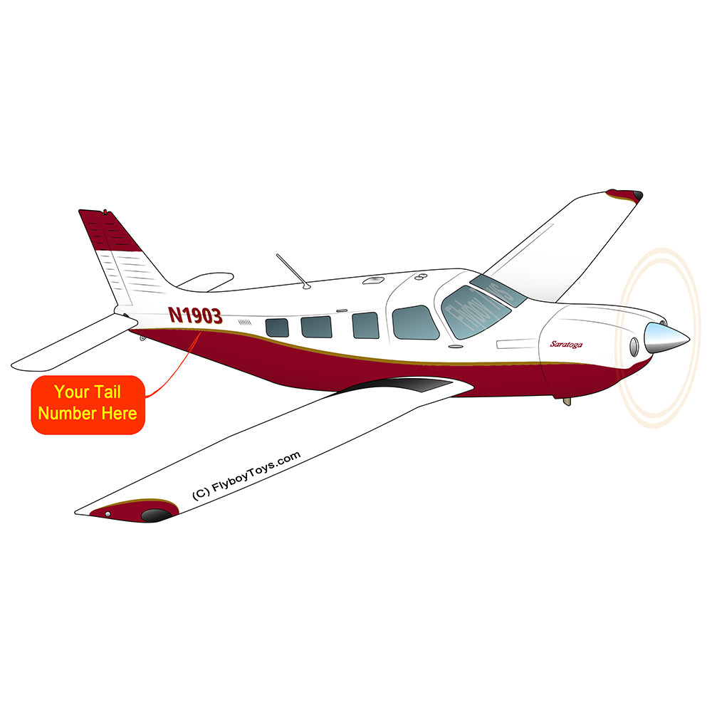 Airplane Design (Maroon w/ Gold Stripes) - AIRG9GJ1I-M1