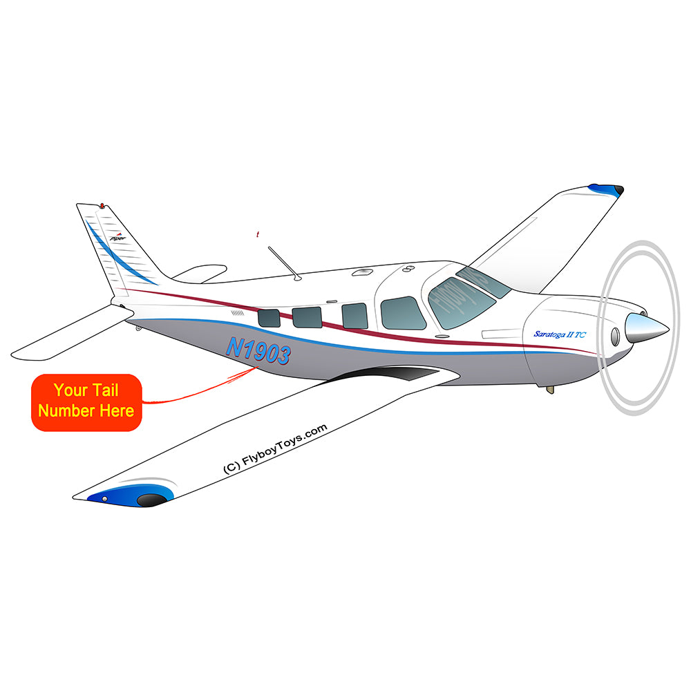Airplane Design (Red/Blue/Silver) - AIRG9GJ1I-RBS1