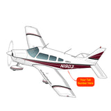 Airplane Design (Maroon/Black) - AIRG9GN1I-MB1