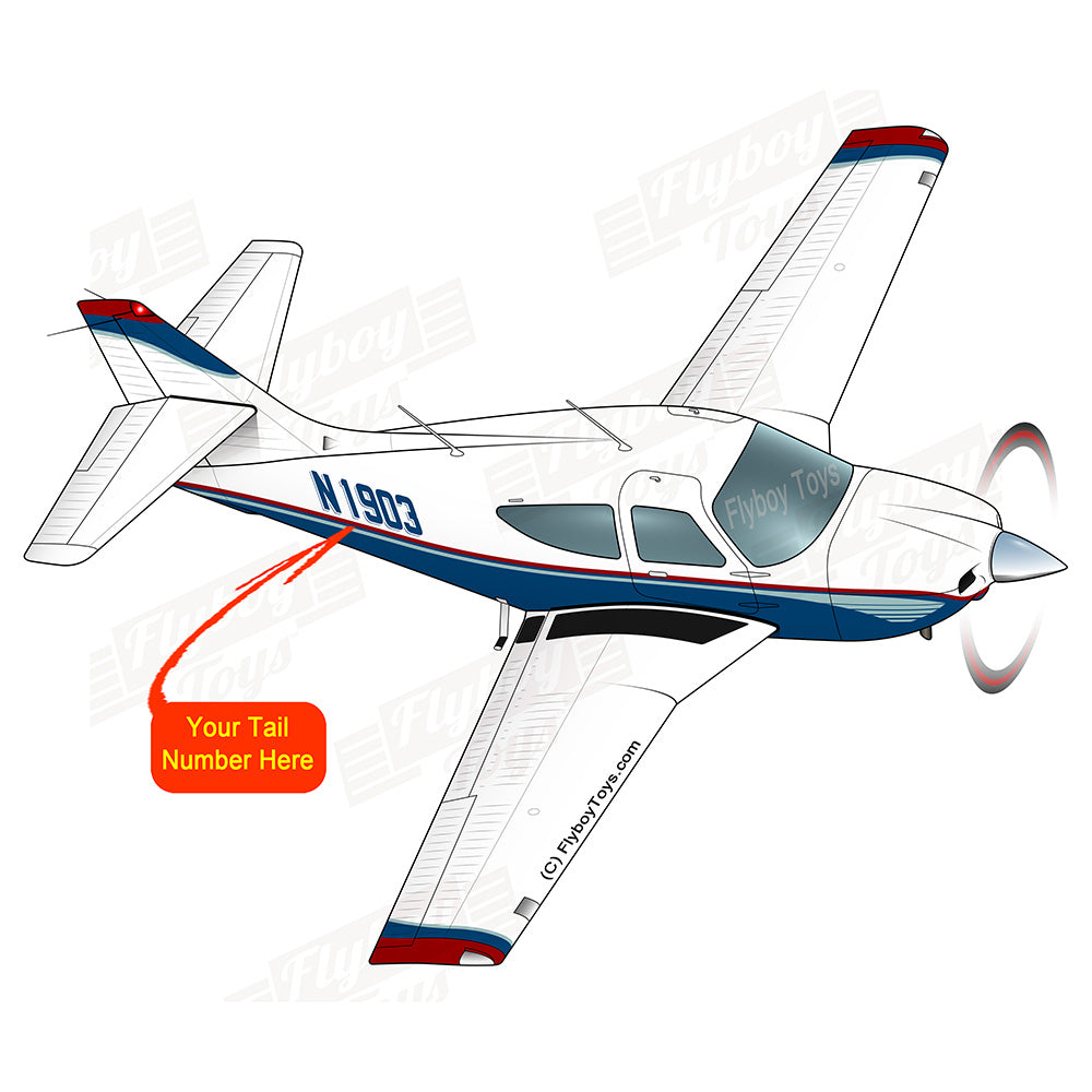 Airplane Design (Blue/Red) - AIRIF33FD114A-BR1