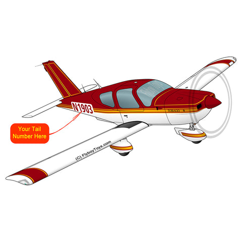 Airplane Design (Red/Gold) - AIRJF3KF2TB10-RG1