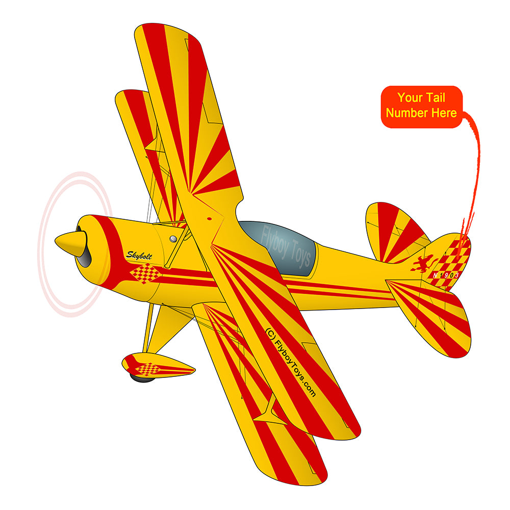 Airplane Design (Yellow/Red) - AIRJK5JBP-YR1