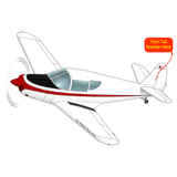 Airplane Design (Black/Red) - AIRJN9GC1B-BR1