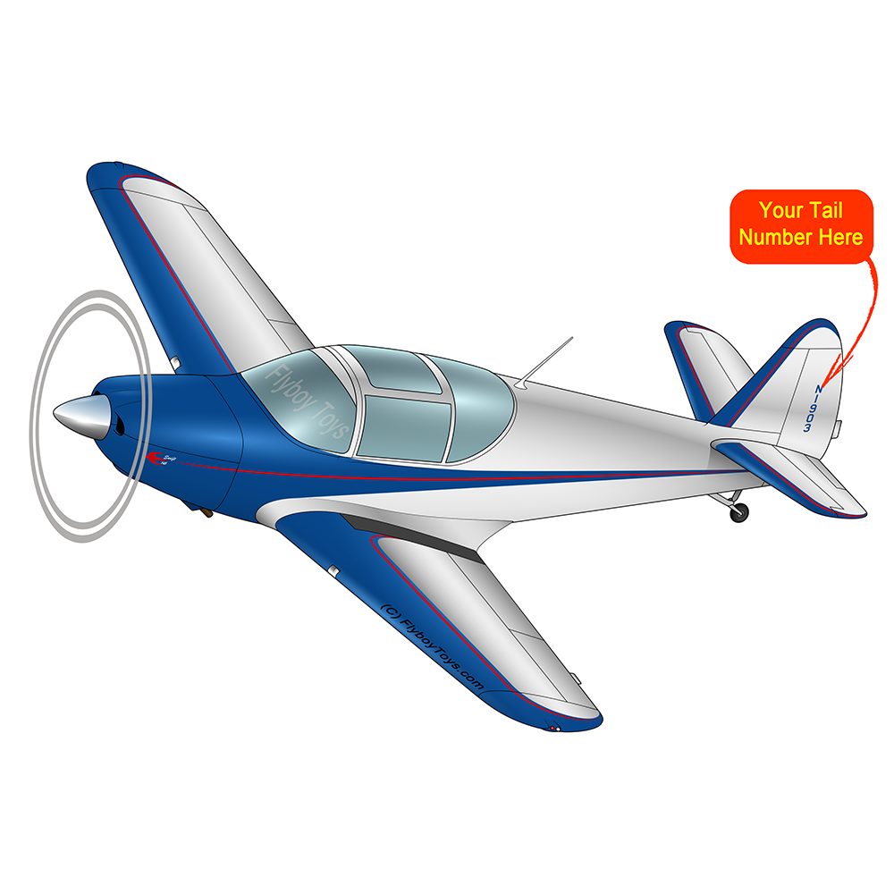 Airplane Design (Blue/Silver) - AIRJN9GC1B-BS1