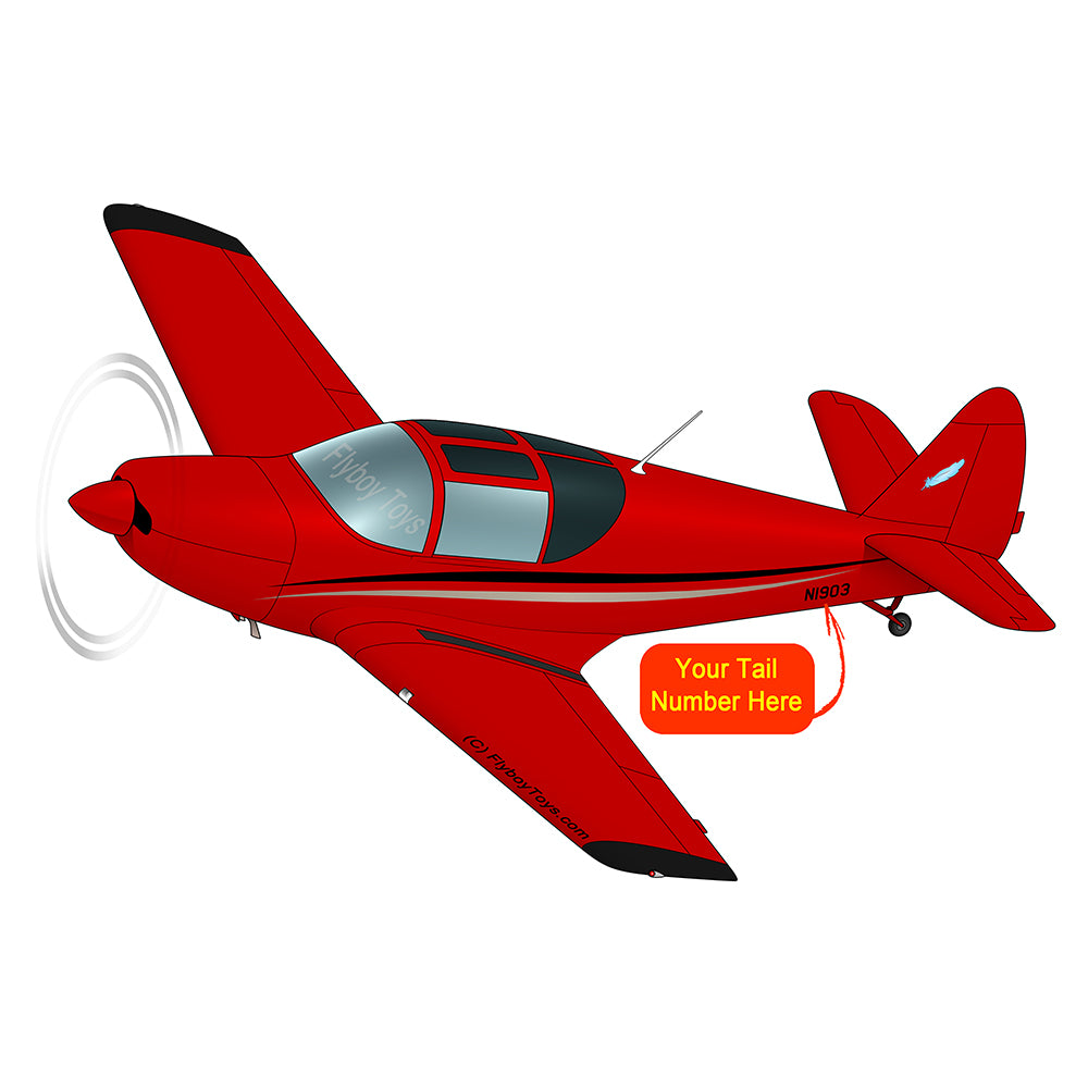 Airplane Design (Red/Black) - AIRJN9GC1B-RB2