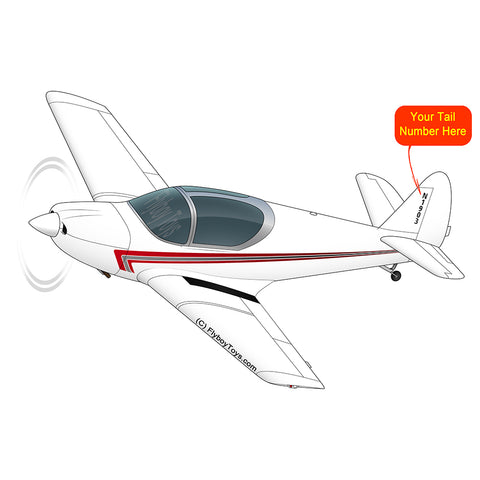 Airplane Design  (Red/Silver) - AIRJN9GC1B-RS1