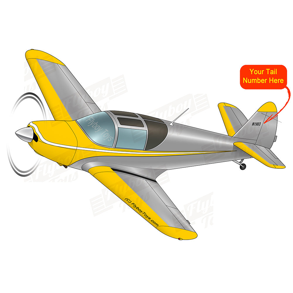 Airplane Design (Yellow/Silver) - AIRJN9GC1B-YS1