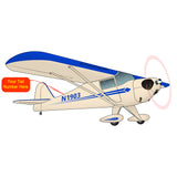 Airplane Design (Cream/Blue) - AIRK1PBC65-B1