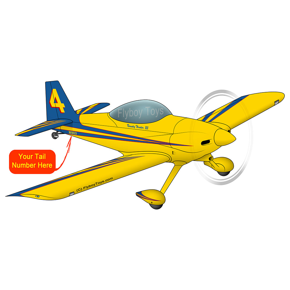 Airplane Design (Yellow/Blue) - AIRM1EIM4-YB1