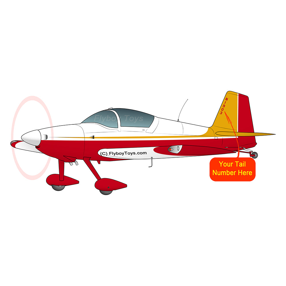 Airplane Design (Red/Yellow) - AIRM1EIM6-RY1