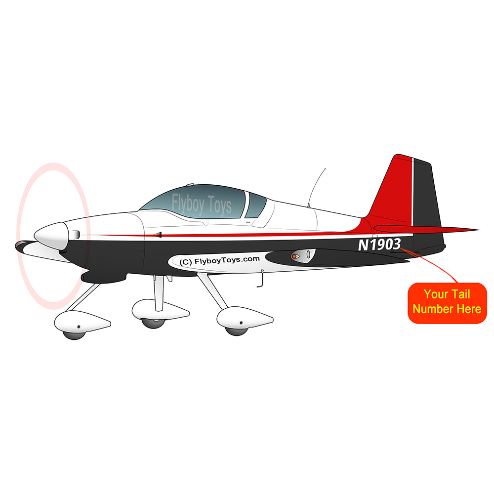 Airplane Design (Red / Black) - AIRM1EIM6A-RB1