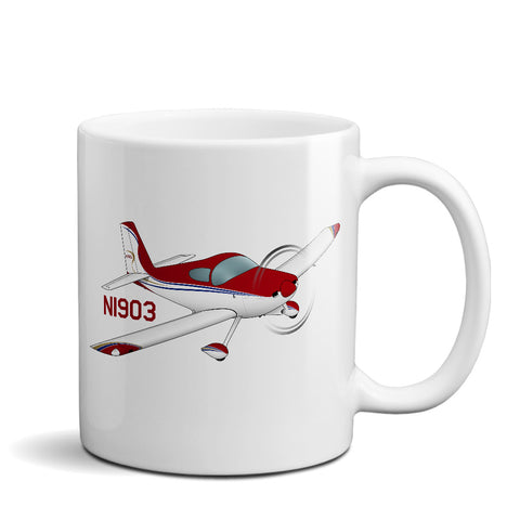 Airplane Ceramic Custom Mug AIRM1EIM7-RBG1 - Personalized w/ your N#