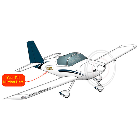 Airplane Design (Blue/Black) - AIRM1EIM7A-BB1