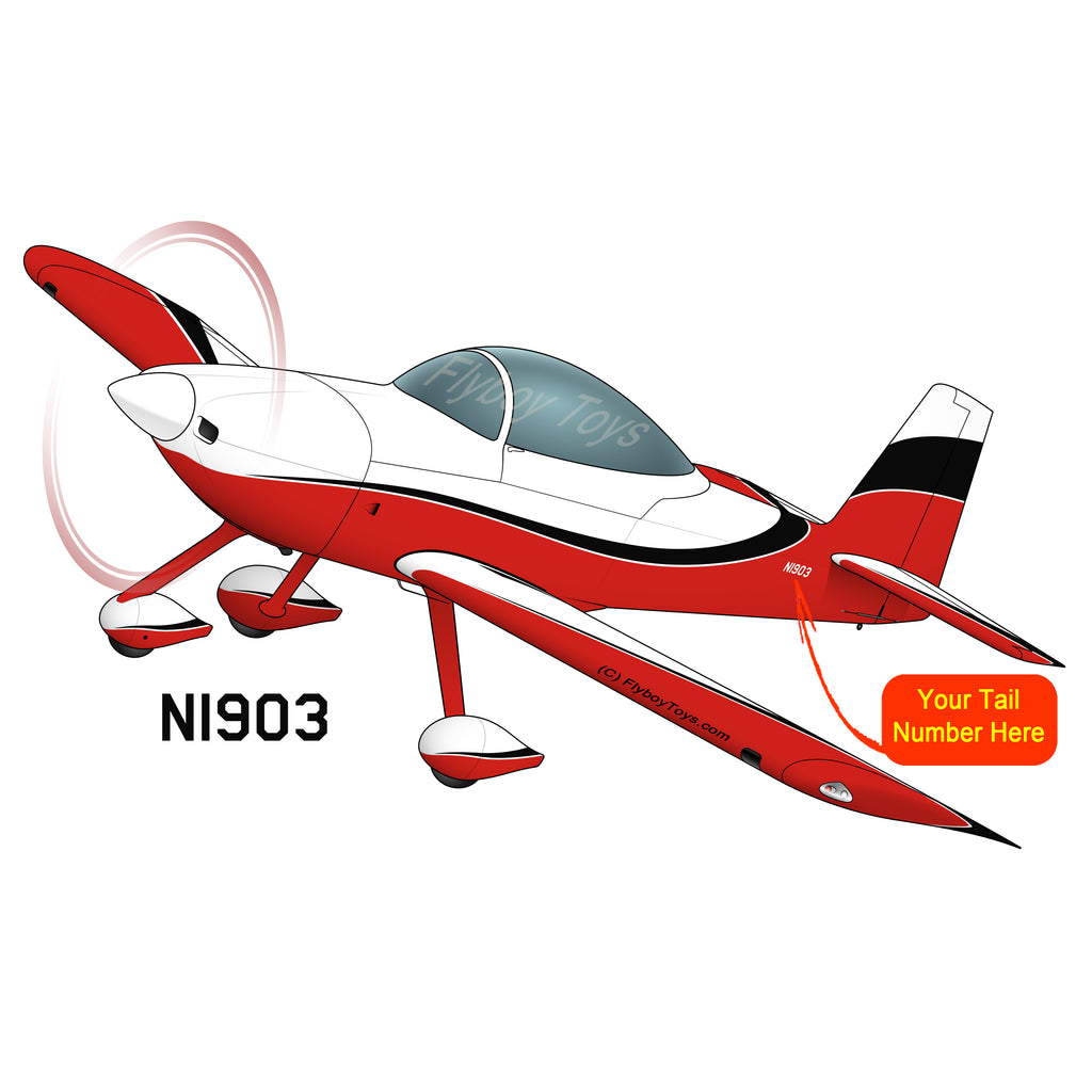 Airplane Design (Red/Black) - AIRM1EIM8A-RB1
