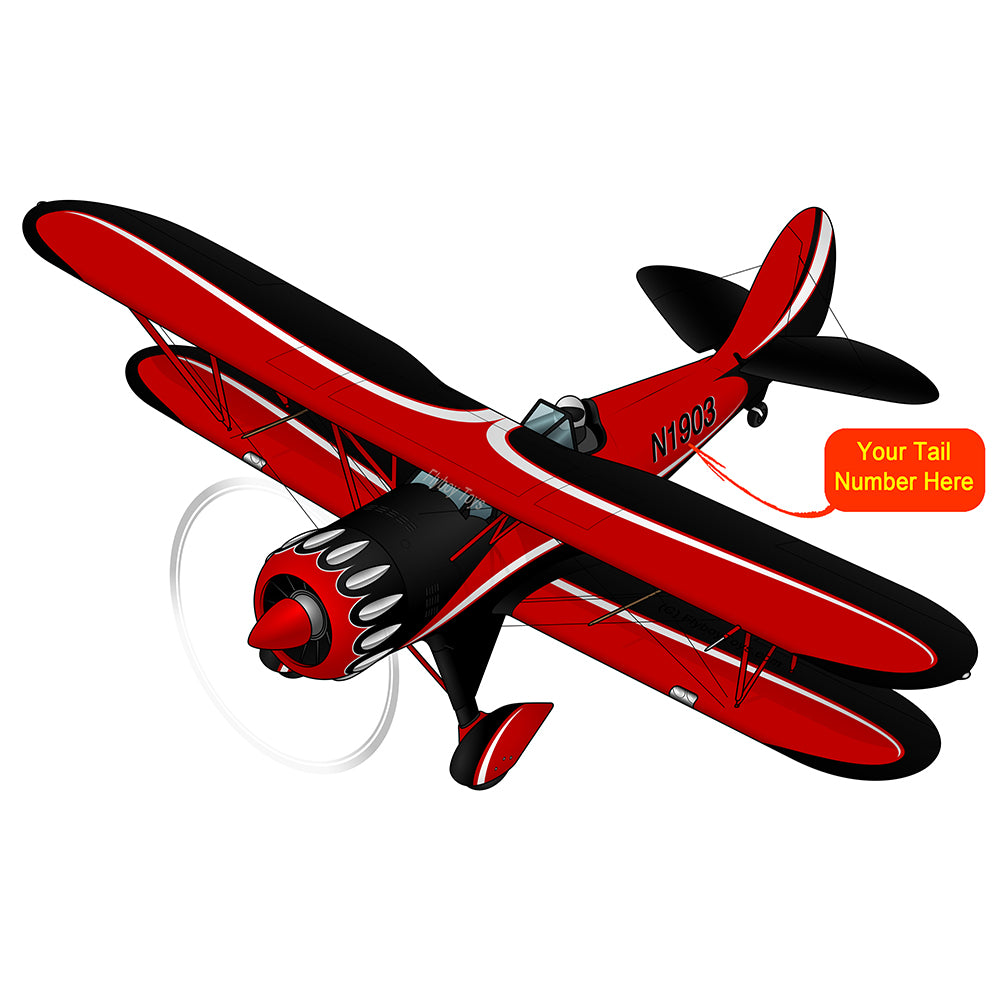Airplane Design (Red/Black/White) - AIRN13PD5-RB2