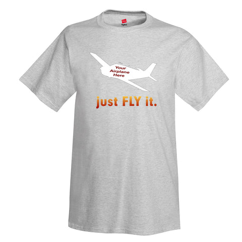 just Fly it Aviation Theme T-Shirt - Personalized w/ Your Airplane