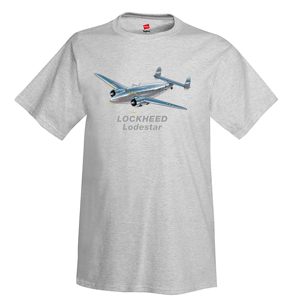 Lockheed Model 18 Lodestar Airplane T-Shirt - Personalized w/ Your N#