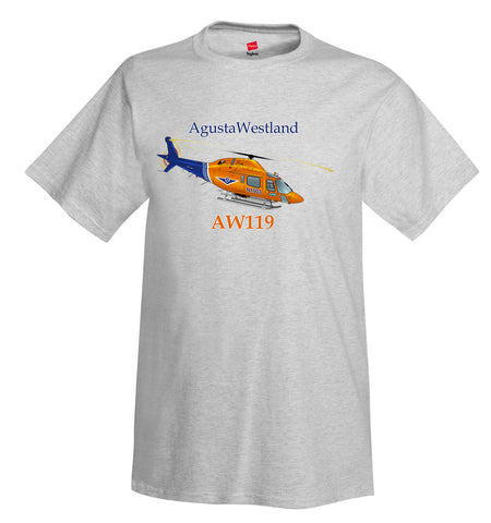 AgustaWestland AW119 Helicopter T-Shirt - Personalized with Your N#
