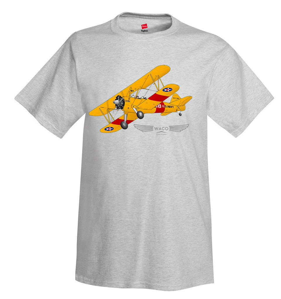 Waco Stearman Airplane T-Shirt - Personalized with Your N#