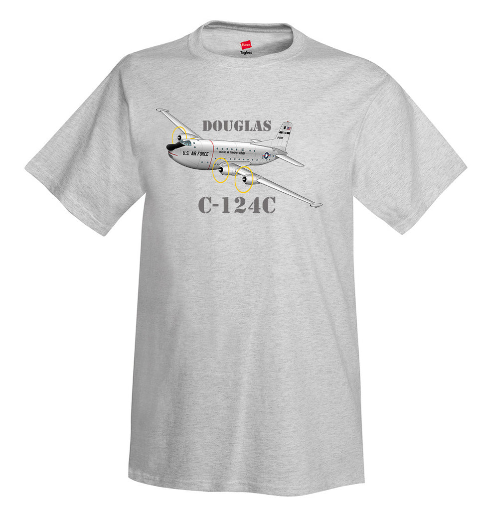 Douglas C-124C Airplane T-Shirt - Personalized with Your N#