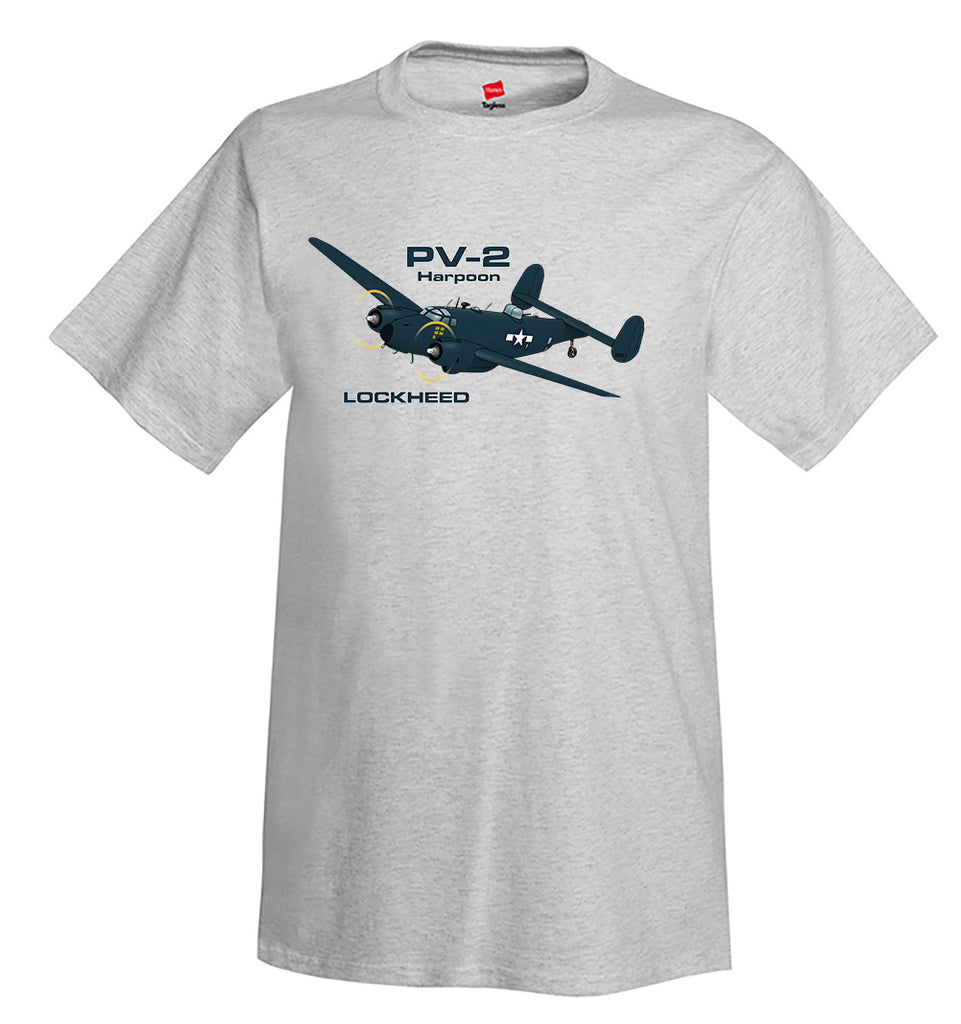 Lockheed Harpoon PV-2 (Blue#2) Airplane T-Shirt - Personalized w/ Your N#