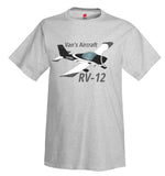 Van's Aircraft RV-12 Airplane T-Shirt - Personalized with Your N#
