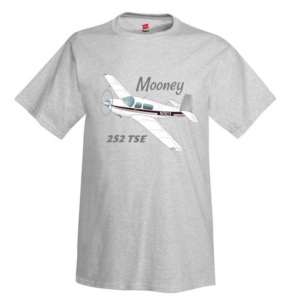 Mooney M20K / 252 TSE Airplane T-Shirt - Personalized with Your N#