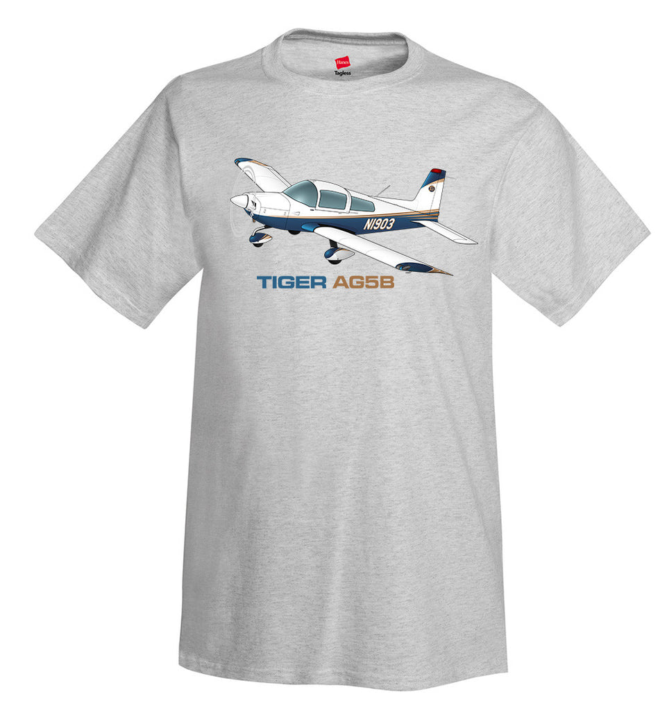 Tiger Aircraft AG5B Airplane T-Shirt - Personalized with Your N#