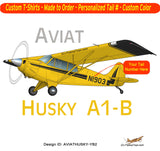 Aviat Husky A1-B Airplane T-shirt- Personalized with N#
