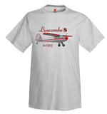 Luscombe 8 (Red/Silver) Airplane T-Shirt - Personalized w/ Your N#