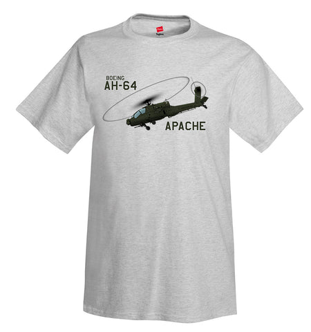 Boeing AH-64 Apache Helicopter T-Shirt - Personalized