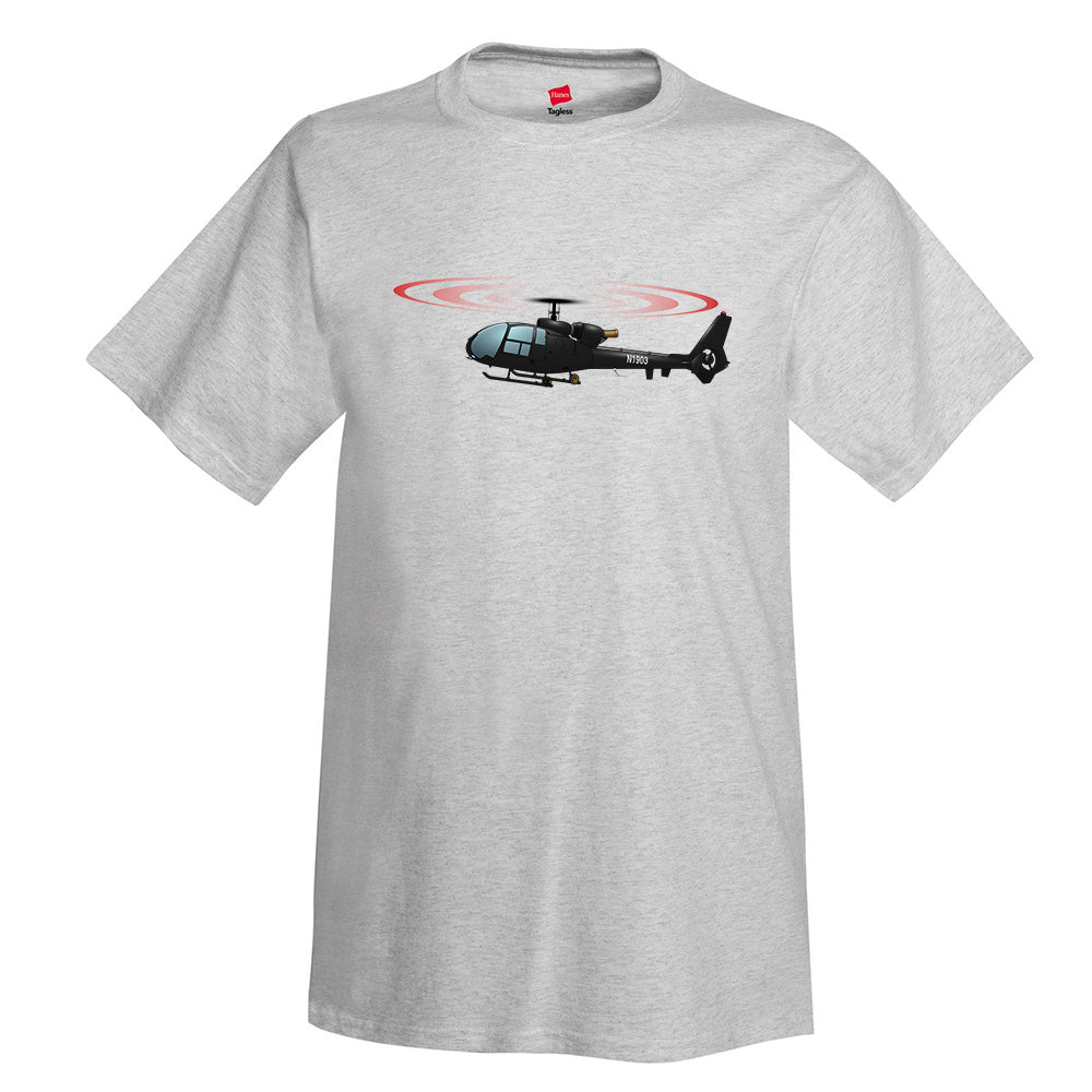 Helicopter T-Shirt HELI15I71Q-BLK1 - Personalized with Your N#